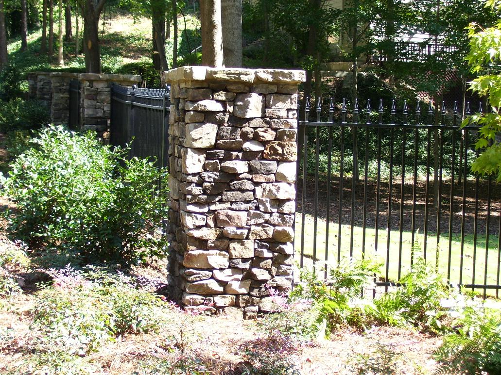 Stone Fence Pillars : Stone fence related keywords long tail